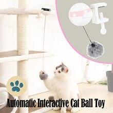 Brinquedo de levantamento automático elétrico bola de gato brinquedo interativo inteligente animal estimação gato bola teaser brinquedos para animais estimação fornecimento bolas de elevação elétrica