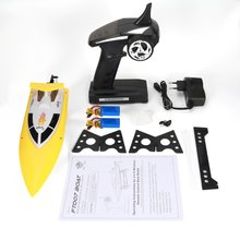 купить Feilun FT007 2.4G 4CH Water Cooling RC Racing Boat 20km/h Super Speed Electric RC Boat Toy Remote Control Boats 2 Batteries дешево