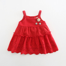 Idea2018 Summer New Products Girls Pure Cotton Lace Sling Dr