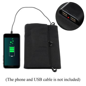 20W Dual USB Solar Panel Foldable Power Bank Panel Camping Hiking Phone Charger Charger Panel Power Pack 6