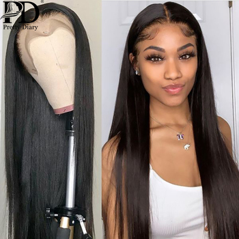26 28 30 Inch Brazilian Straight 13x4 Lace Front Human Hair Wigs Pre Plucked And Bleached Knots Lace Frontal Wig Remy Hair Wigs