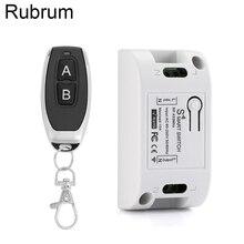 Rubrum 433 Mhz evrensel uzaktan kumanda anahtarı AC 110V 220V 1CH röle alıcı modülü + RF 433 Mhz uzaktan kumanda garaj kapısı