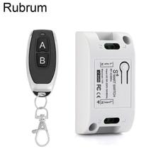 Rubrum 433Mhz Universal Remote Control Switch AC 110V 220V 1CH Relay Receiver Module + RF 433 Mhz Remote Control For Garage Gate