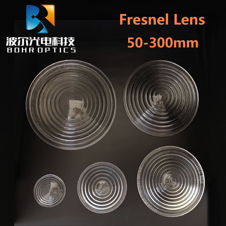 Diameter200mm EFL140mm Round Glass Spotlight Fresnel Lens for stage lamp magnifier threaded lens