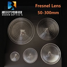 Diameter50mm EFL40mm Round Glass Spotlight Fresnel Lens for Stage Lamp Magnifier Threaded Lenses 1pc 300w 80mm diameter round glass spotlight fresnel lens with ip23 protection grade