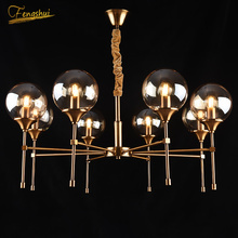Nordic Luxury Chandelier Iron Glass Lampshade Modern Kitchen Ceiling Lighting Living Room Bedroom Lamp Light Fixture modern design glass ball chandelier 6 heads glass bubble lamp chandelier for living room kitchen light fixture