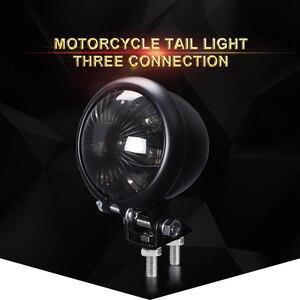 Image 2 - אופנוע זנב אור אדום LED קפה רייסר סגנון להפסיק זנב אור אופנוע בלם אחורי מנורת טאיליט עבור פר Bobber 12V