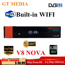 GTMedia V8 Nova Full HD H.265 DVB S2 decoder Satellite Receiver Europe Spain satellite receptor Built in Wifi Freesat V9 Super