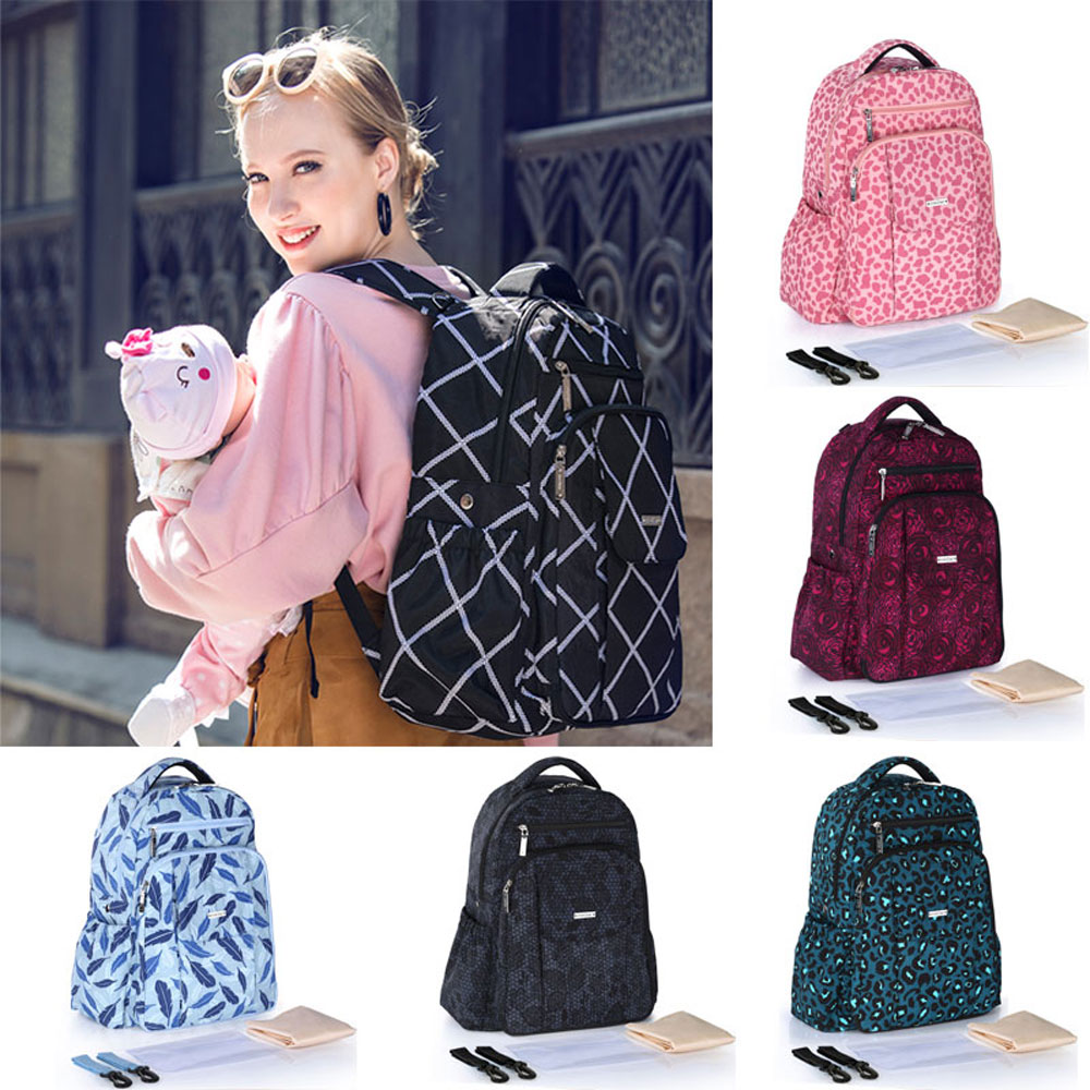 Mummy Diaper Bags Backpack Waterproof Maternity Bag Nappy Large Capacity Mommy Travel Backpacks Baby Nursing Bag For Stroller