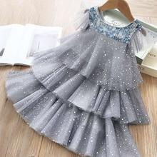 Летние платья для девочек для детей, волшебное Сетчатое многослойное платье принцессы с блестками, Детский костюм для свадебвечерние НКИ, л...
