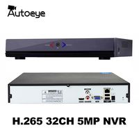 XMeye H.265 HEVC 8CH*4K/32CH*5MP Network Video Recorder 32 Channel 5mp IP camera Onvif 2.0 CCTV NVR 2 SATA HDD