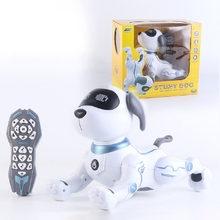 Remote Control Dog RC Robotic Stunt Puppy Dancing Programmable Smart Toy with Sound Interactive Gift