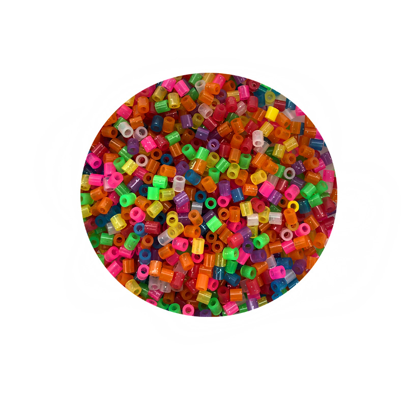 JINLETONG 1000Pcs Glitter Hama Beads 5mm DIY 3d puzzle Glitter hama fuse beads toys for children Puzzles fuse beads toys 9colors 1