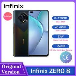 Смартфон Infinix ZERO 8, 6,85 дюйма, 8 + 128 ГБ, 64 мп, Helio G90T, 33 Вт, Android