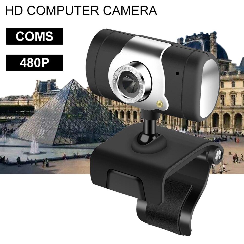 480p USB Webcam PC Camera Rotation With MIC For Skype Computer Video Call Web Cam Computer Camera USB Camera