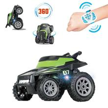 RC Stunt Car Toy Electronic Watch Remote Control Stunt Car With LED Light 360-degree Tumble Rotation RC Road Vehicle Toy For Kid 503a 360 degree rotation blue police car light for r c car blue white black
