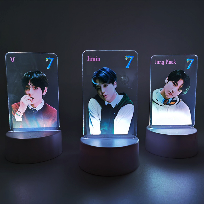 Bulletproof Boys Bangtan Boys MAP OF THE SOUL 7 Colorful Acrylic USB Night Light Desktop Decoration Jewelry Display GU203