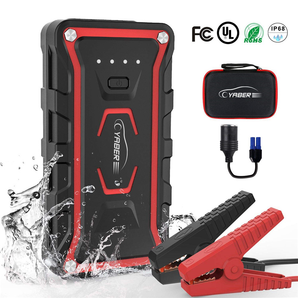 Yaber 20000mAh  Jump Starter Emergency Jump starter Battery Power Bank Auto Booster Peak Amper 1600A for All Gas and 7L Diesel