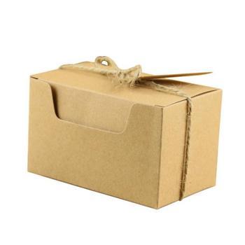 100pcs Kraft Paper Package Cardboard Box Craft Gift Candy Box Christmas Packaging Paper Box Scatoline Bomboniere Hediye Kutusu
