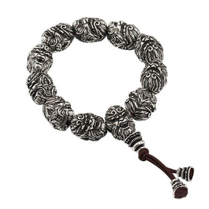 Image 4 - Boeddha Armband Kralen Armbanden Voor Mannen Monkey King Kralen Armband Met Bixie Charm Lucky Sieraden