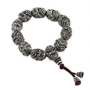 Image 4 - Buddha Bracelet Beads Bracelets For Men Monkey King Beaded Bracelet With Pixiu Charm Lucky Jewelry