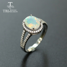 Opal Ring natural gemstone jewelry solid 925 sterling silver
