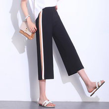 Black wide leg pants for women fashion office work vintage trousers