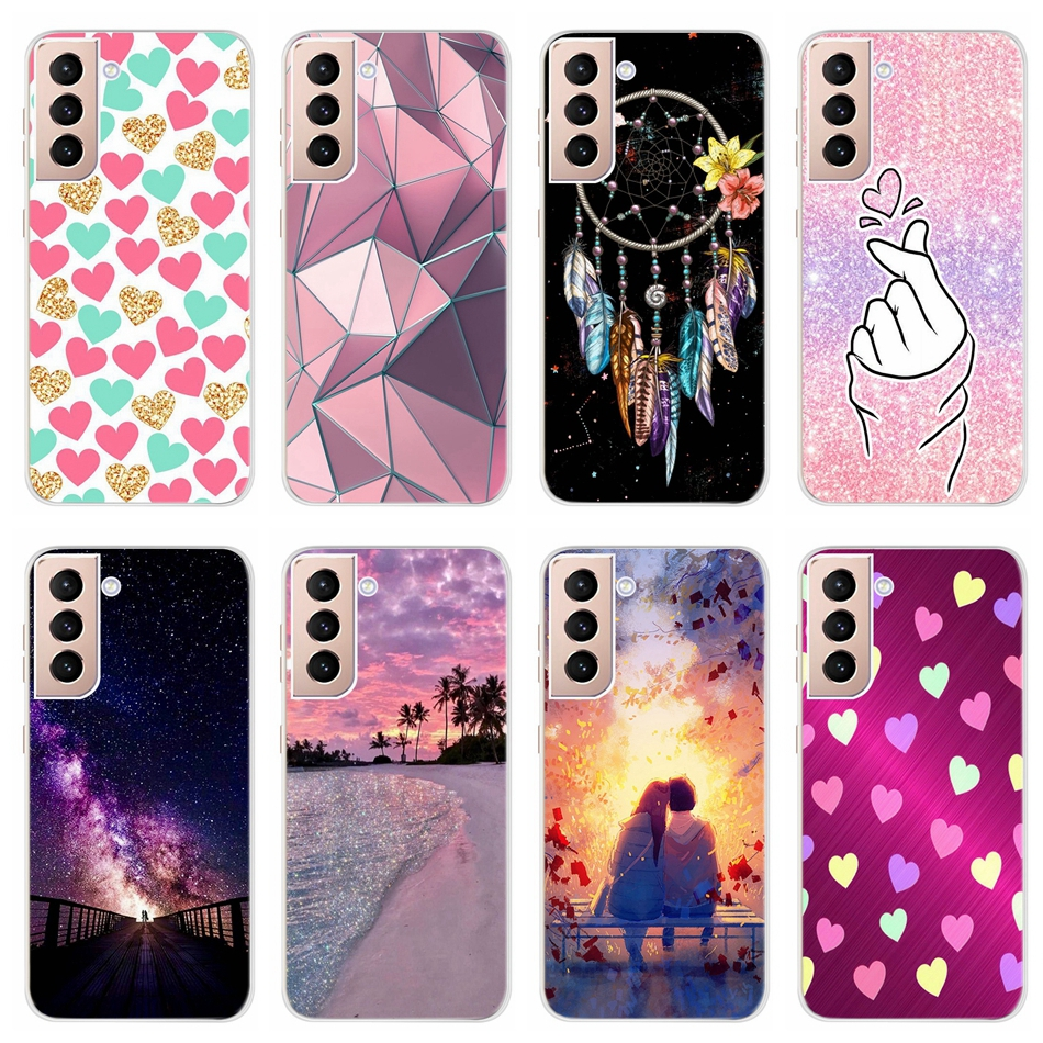 Case For Samsung Galaxy S21 5G S20+ Phone Cases Cute Love Pattern Back Cover For Samsung S21 Plus 5G S 21 Funda