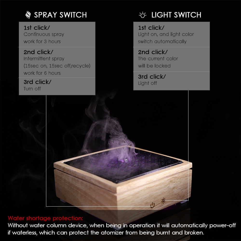 Ultraschall-luftbefeuchter holz Vernebler Aroma Diffusor Aromatherapie Ätherisches Öl humificador auto nebel maker verdampfer hause