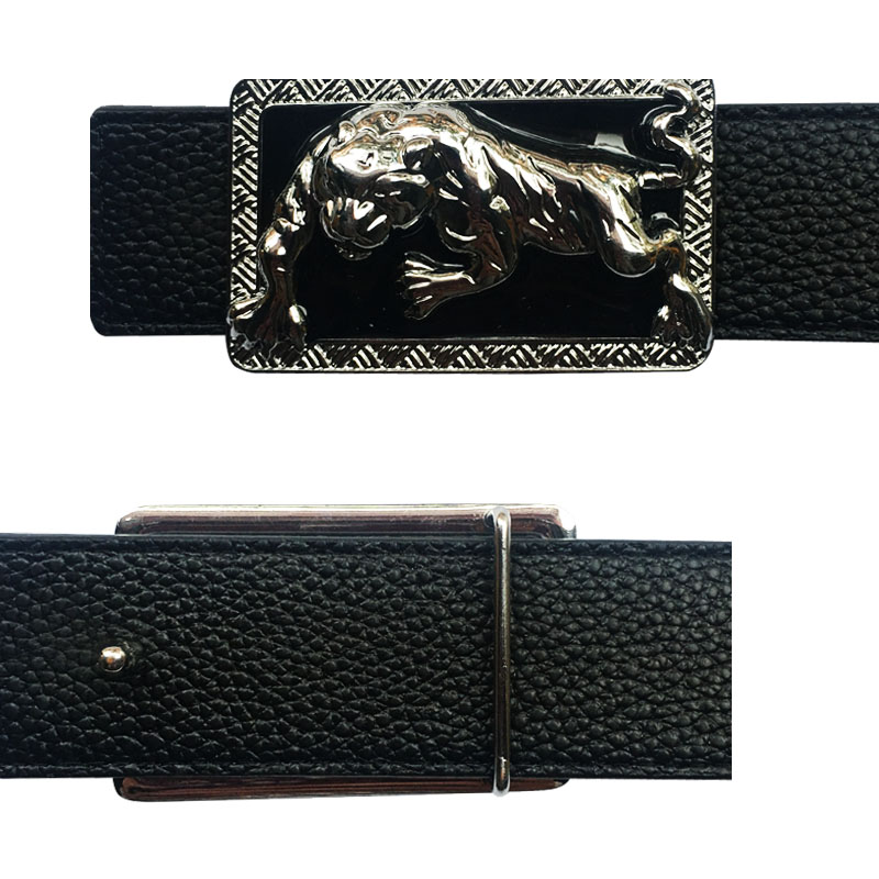 Luxury Animal Leopard Icon Fashion Belt Buckle For Men  Western Cowboy Dress Metal Accessories For Man  Solid Brass Belt Buckle