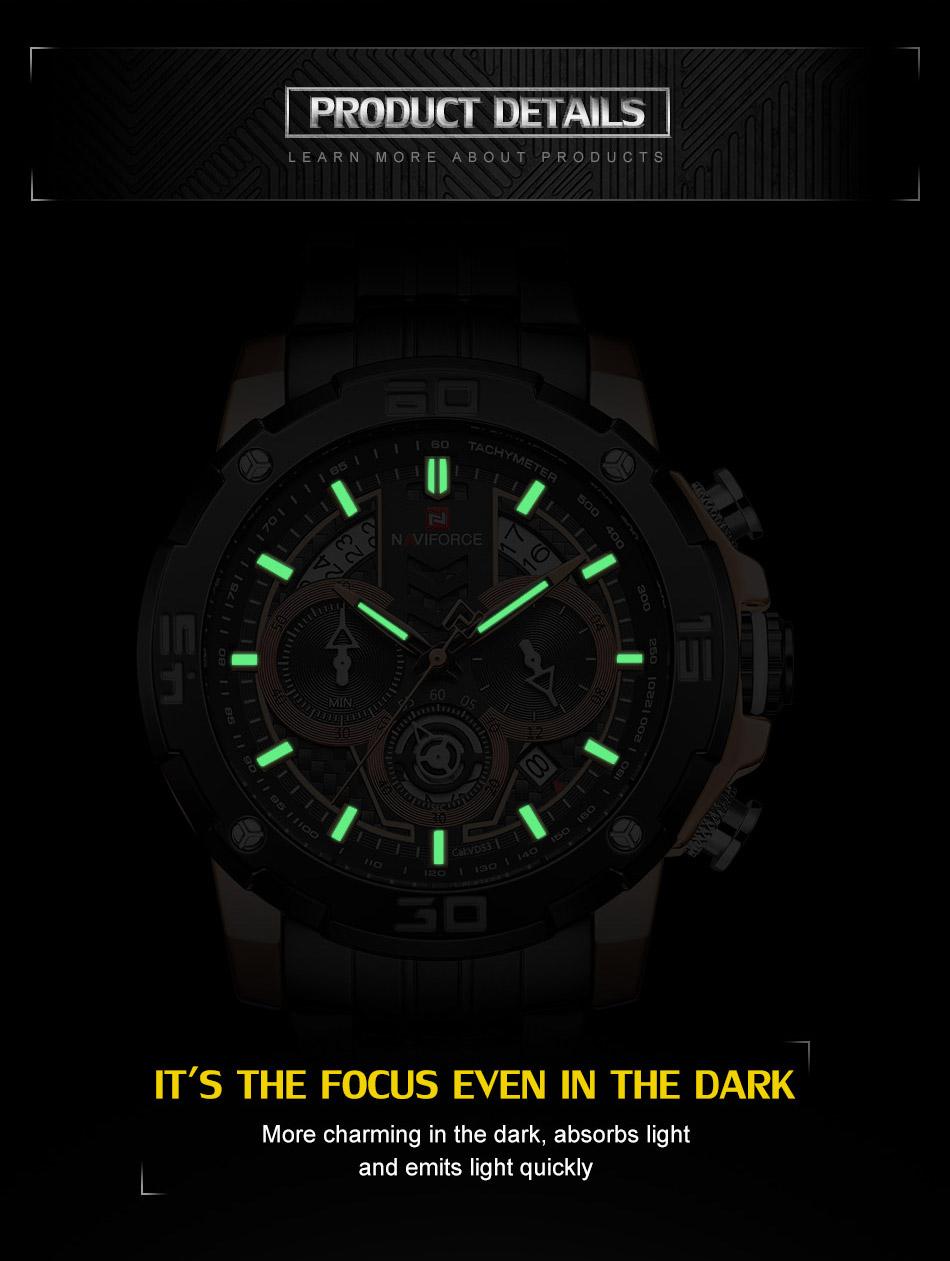 NAVIFORCE NF9175 Stainless Steel Watch 6