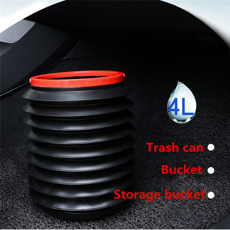 Car Folding Barrel Trash Can For Touareg Phaeton Phideon Variant Touran Beetle T-Cross T-Roc Amarok Tarok MOIA CARAVELLE MULTIVA
