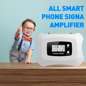 Image 2 - 뜨거운!! 가정용 Yagi + 천장 안테나 키트가있는 3G 신호 중계기 3G 2100MHz 모바일 신호 부스터 3G 휴대 전화 증폭기 키트