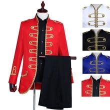 Винтажные мужские костюмы принцев, изысканные пуговицы, три-ди, для мужчин, профессиональный пошив, дизайн, чувство, свадьба, вечеринка, представление
