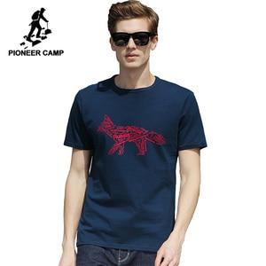 Pioneer Kamp Nieuwe Zomer T-shirt Mannen Merk Kleding Russisch Kaart Korte T-shirt Man Top Kwaliteit 100% Katoenen T-shirt ADT701140