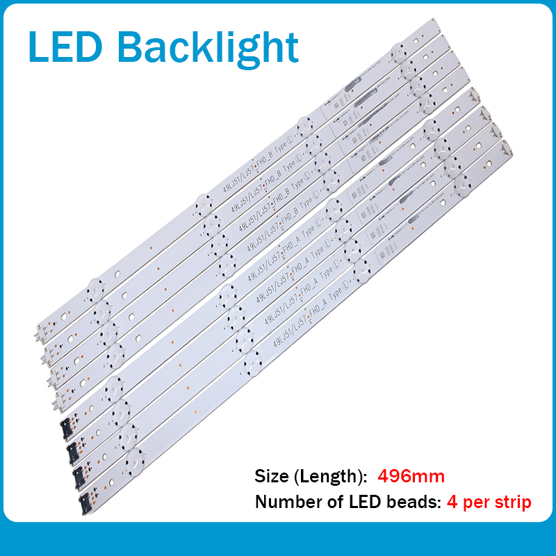 LED Backlight Strip 8 Lamp For LG Innotek 17Y 49