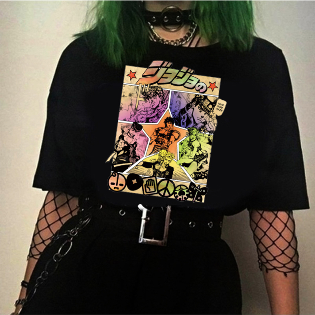 2020 Anime Shirt Jojo Bizarre Adventure T-shirt Short Sleeved T-shirt Summer Tops Tee