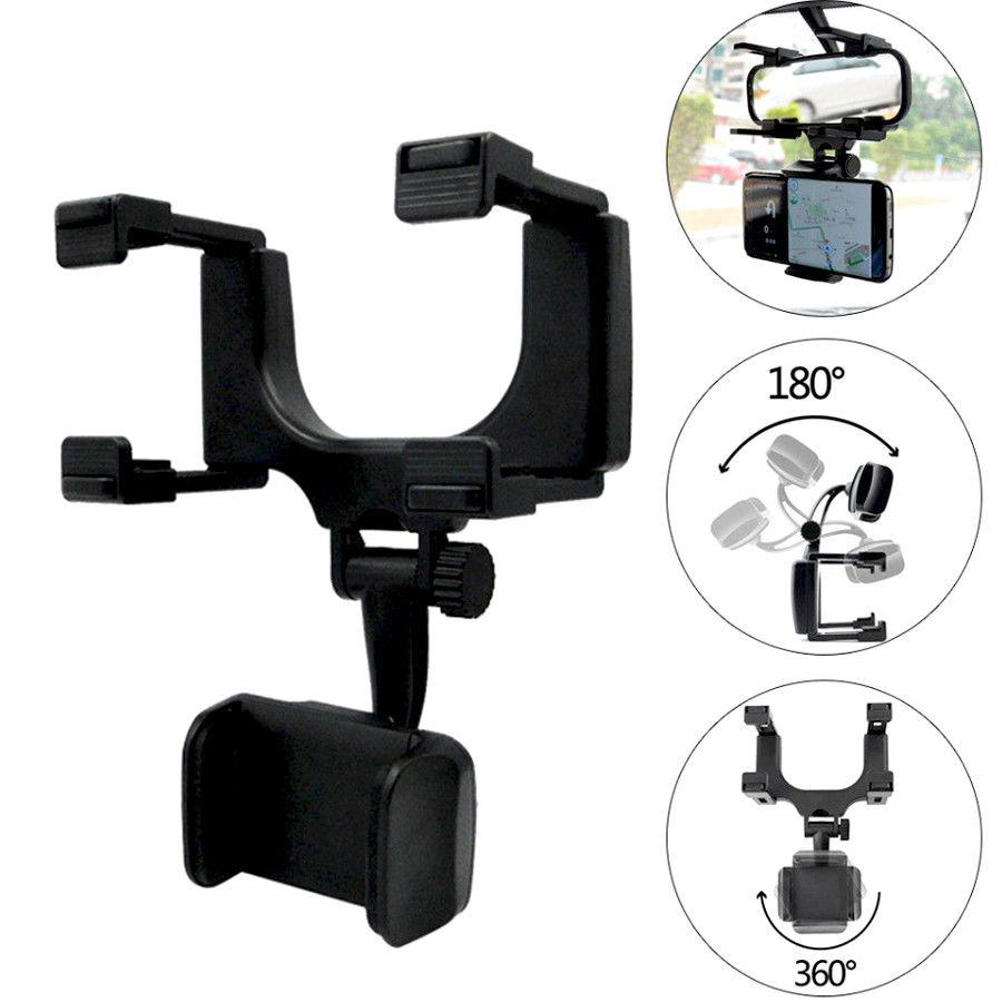 DishyKooker Universal Car Rearview Mirror Mount Stand Holder Cradle For Cell Phone GPS