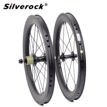 "Bike Carbon Wheelset 5 6 7 Speed 16 x1 3/8"" 349 wheelset 14H/21H for Brompton 3sixty Ultralight Folding Bike wheels"