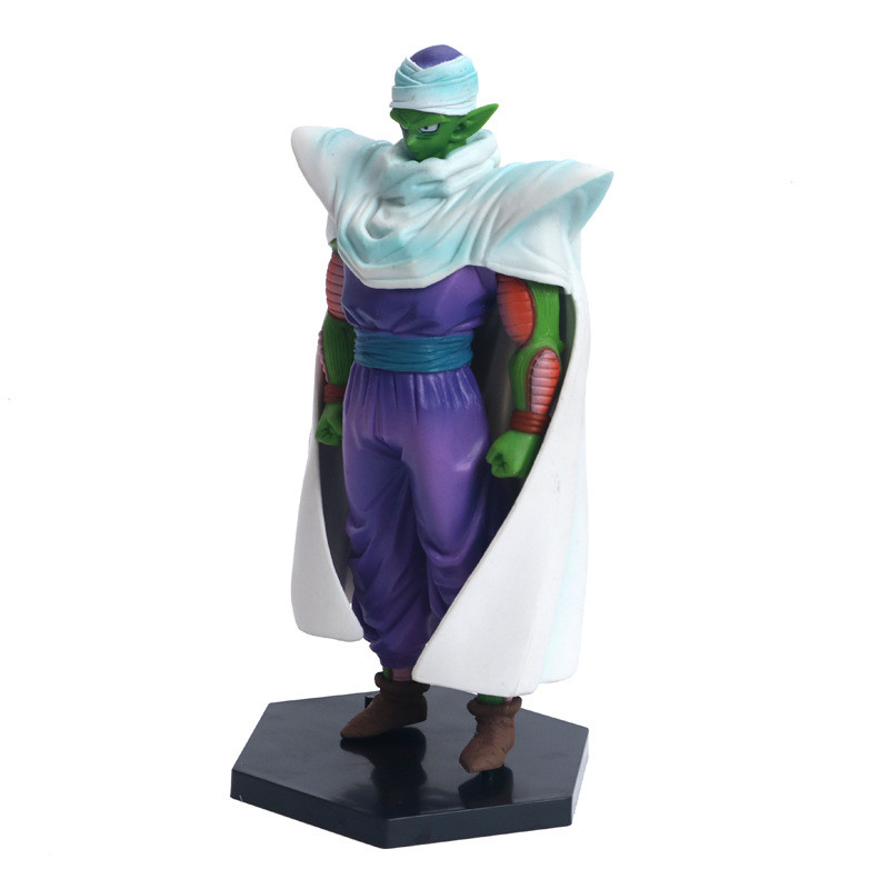 2Pcs/Set Dragon Ball Z Gohan Piccolo Battle Cloaked Ver. Piccolo  Goku Saiyan PVC Figure DBZ Collection Model 8-17CM