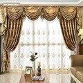 Новинка 2021, занавески для гостиной, столовой, высококачественные, лаконичные, европейские, золотые Дверные Шторы, роскошные оконные шторы д...