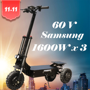 1600W x 3 80km/h Three Wheel Electric Scooter Foldable Waterproof Strong Power Scooter Electric Adult Patinete Electrico Adulto
