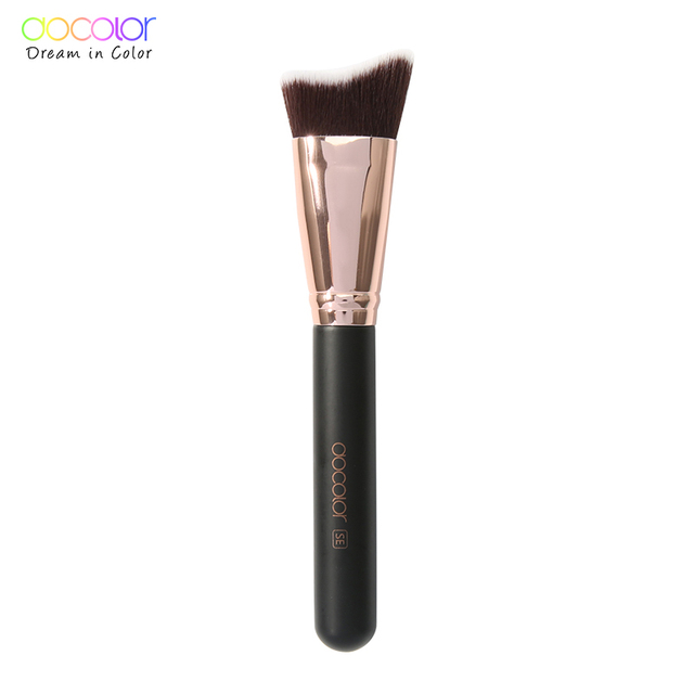 Docolor Makeup Brushes Powder Foundation Highlight Fan Makeup Brushes Wooden Handle Professional Make up Brushes For Beauty 5