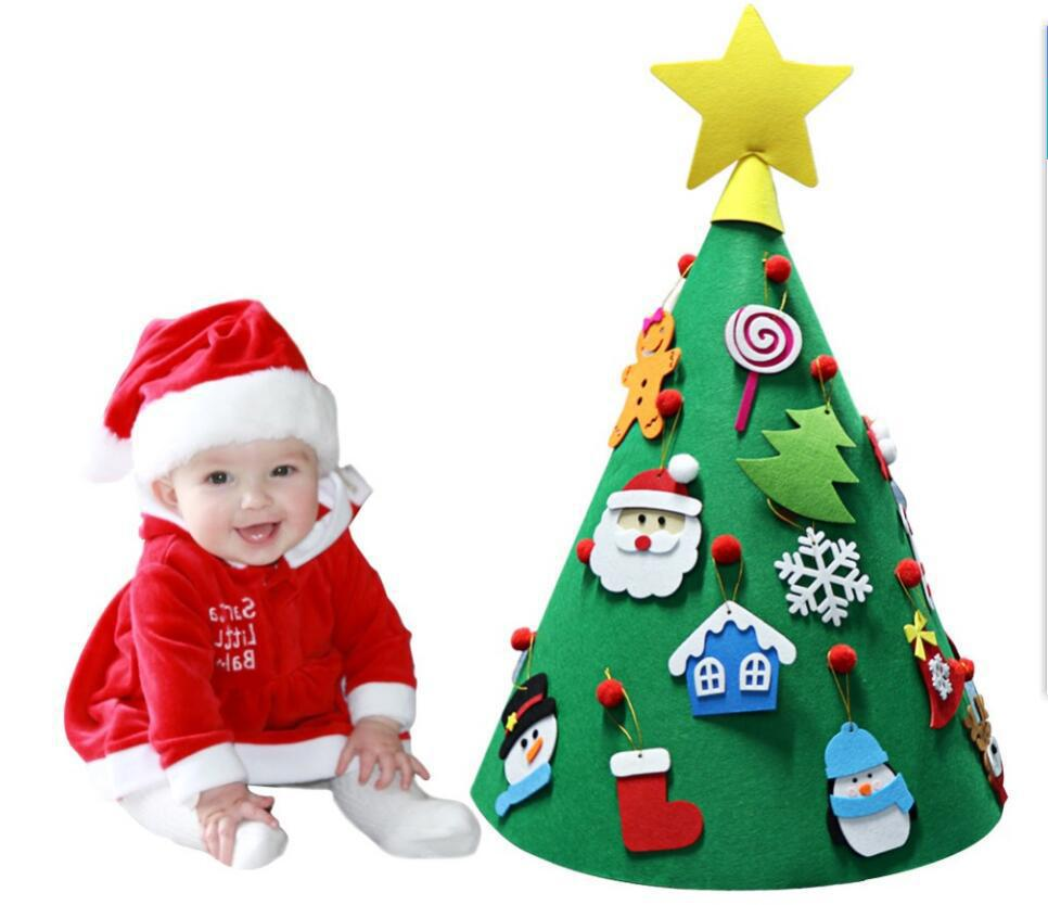 New Style 3D Christmas Tree Cone Christmas Tree Pendant DIY Felt Christmas Tree