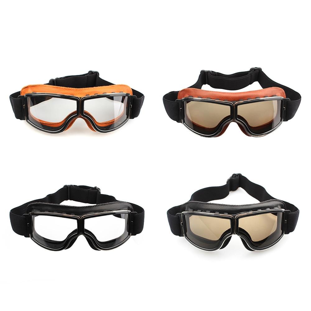 Vintage Aviator Pilot Motorcycle Racing Goggles Glasses Retro Eyewear Cafe Racer