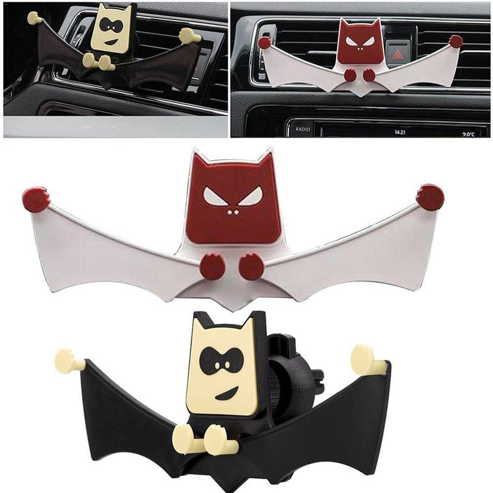 Car Phone Holder GPS Navigation Dashboard Bat Shape Phone Holder In Car For Universal Mobile Phone Clip Mount Stand Bracket