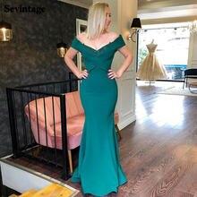 Sevintage простое платье для выпускного вечера с русалочкой