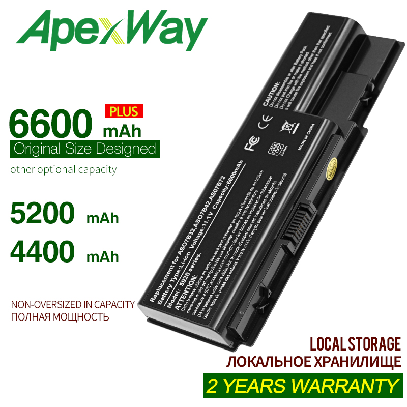 ApexWay as07b31 7730g lpatop batería para ACE AS07B31 AS07B32 AS07B41 AS07B42 AS07B51 AS07B52 AS07B61 AS07B71 para Aspire 5230 Ser JIGU batería del ordenador portátil para Acer AS07B31 AS07B32 AS07B41 AS07B42 AS07B51 AS07B52 AS07B71 AS07B72 AS07B31 AS07B51 AS07B61