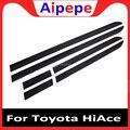 Лидер продаж  6 шт.  углеродное волокно  ABS  серебро  пластик  автомобильная дверная формовочная Накладка для Toyota HiAce 2019  автомобильные аксессу...