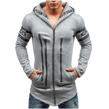Spring and Autumn Letters Printed Men's Sweatshirts Hooded A